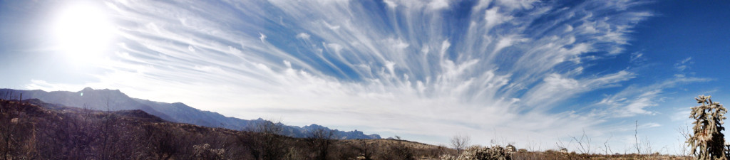 Clouds over Catalina Mountains